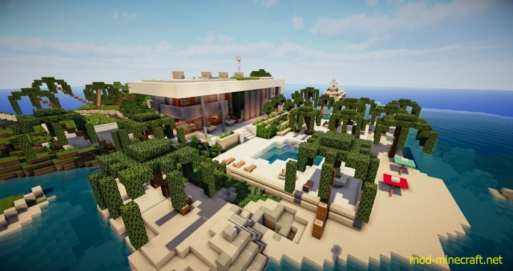 Image gallery modern minecraft house map for Modern house map