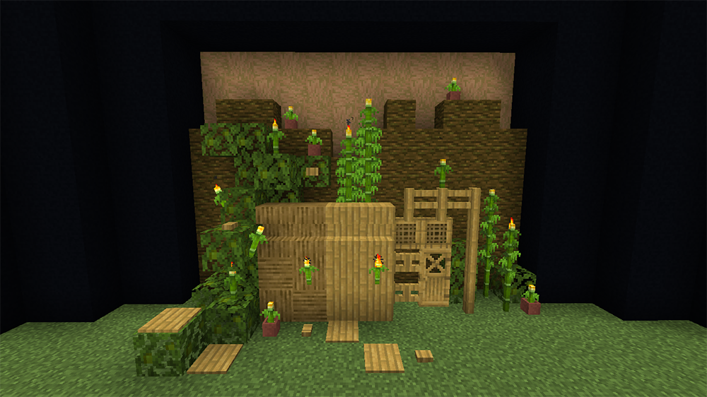 Bamboo Blocks mod for minecraft screenshots 01