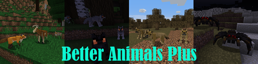 Better Animals Plus mod for minecraft