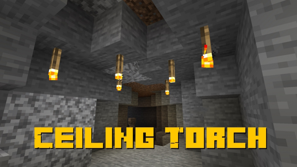 Ceiling Torch mod for minecraft