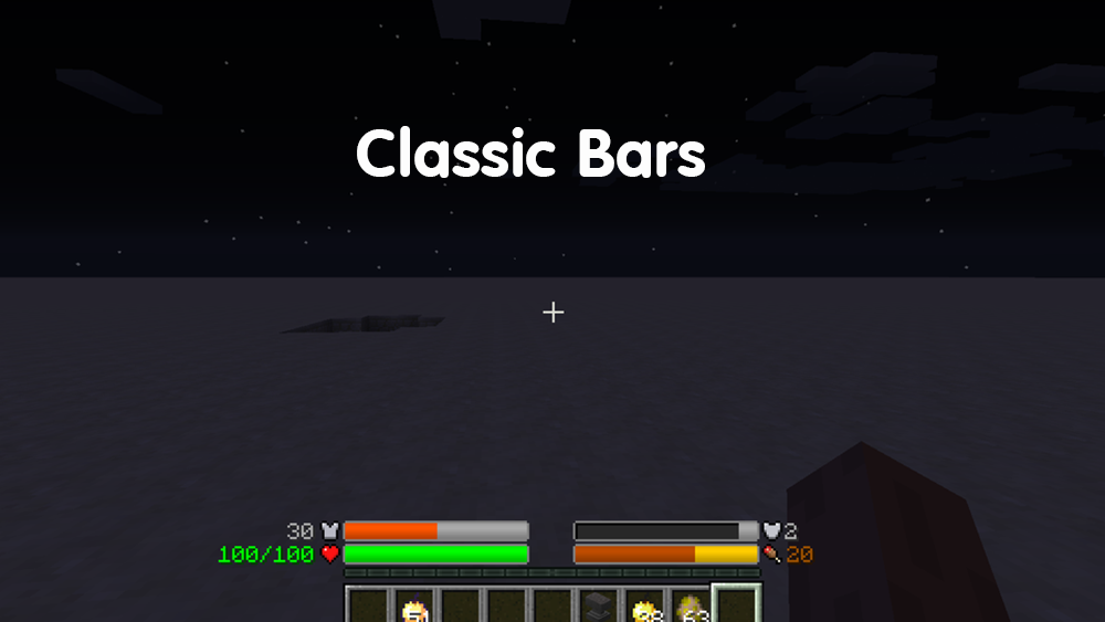 Classic Bars mod for minecraft