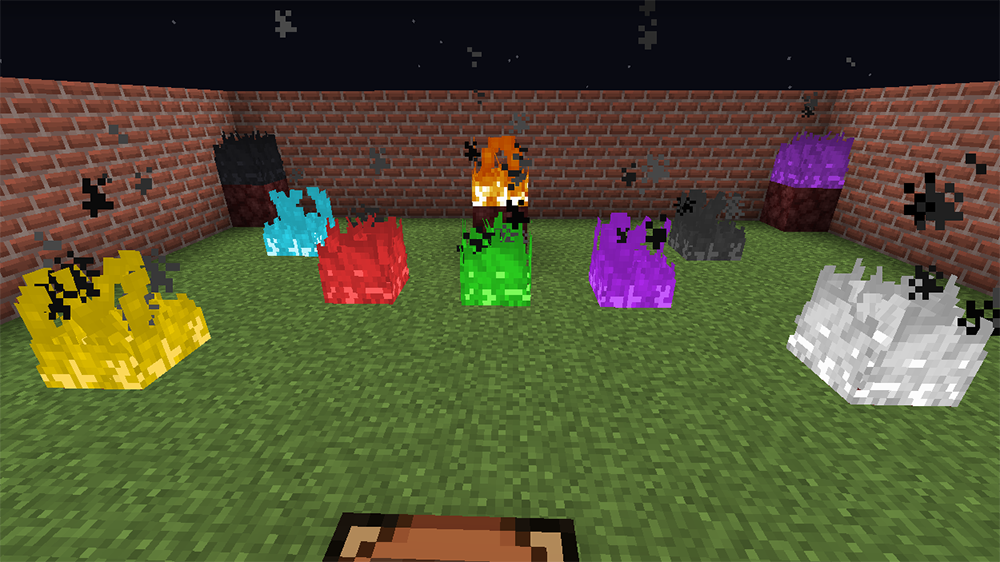 Colored Flames mod for minecraft screenshots 02