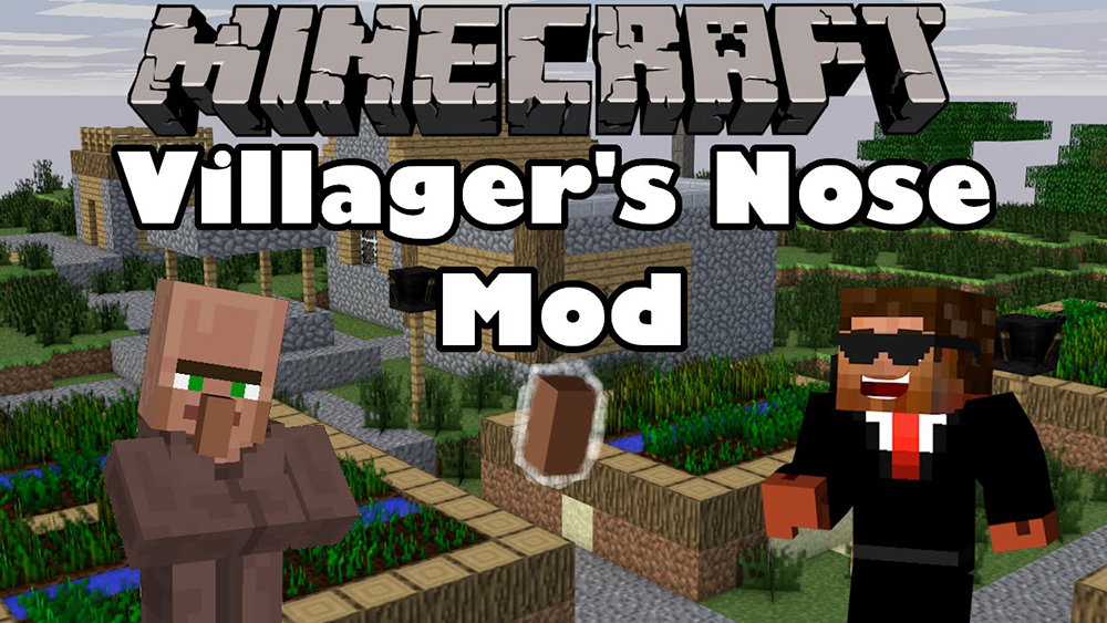 Cuting Villagers Nose mod for minecraft
