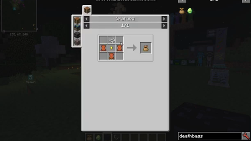 Death Bags mod for minecraft recipes 02