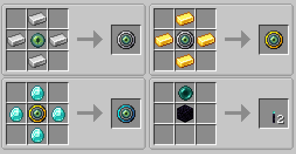 Ender Magnet mod for minecraft recipes 01