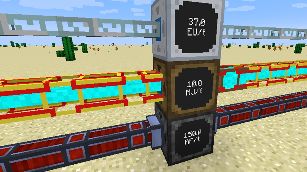 Energy Meters mod for minecraft