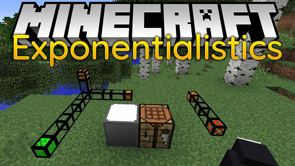 Exponentialistics Pipes mod for minecraft
