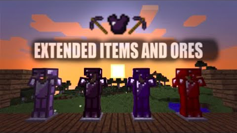 Extended Items and Ores mod for minecraft