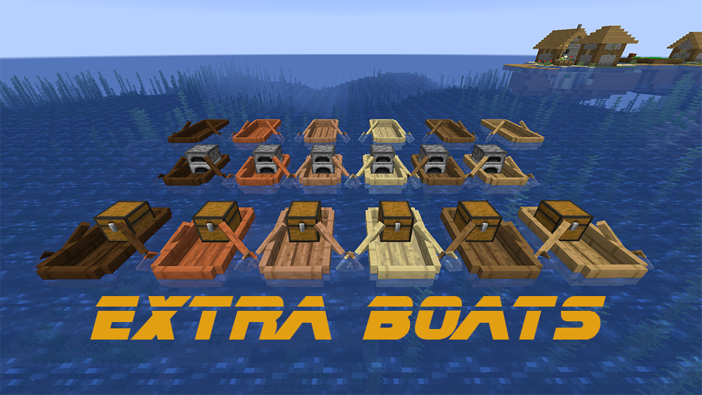 Extra Boats mod for minecraft