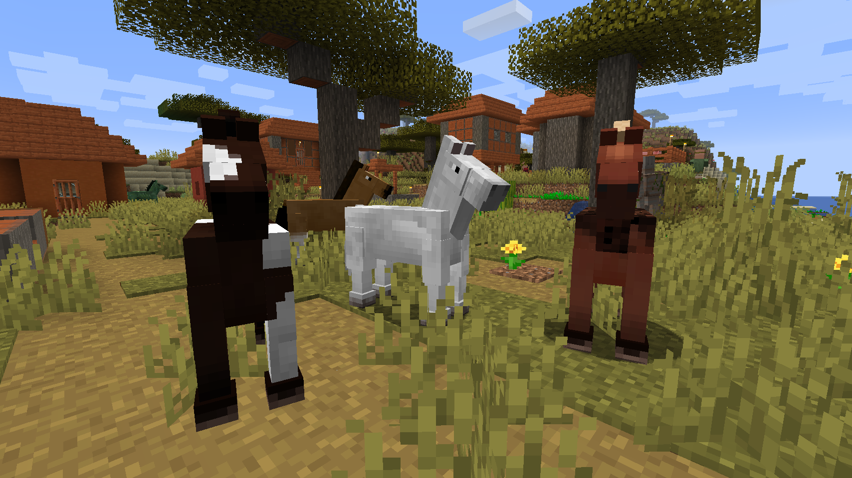 Familiar Horses mod for minecraft