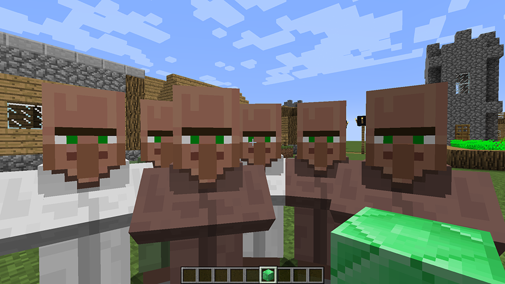 Following Villagers mod for minecraft screenshots 01