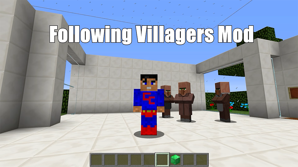 Following Villagers mod for minecraft