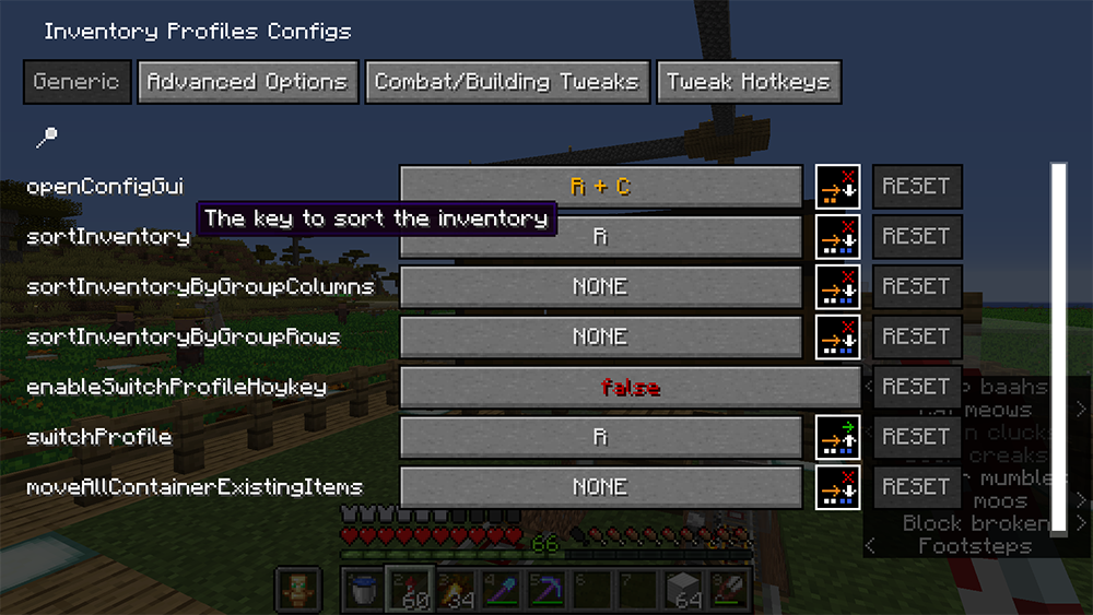 Inventory Profiles mod for minecraft screenshots 02