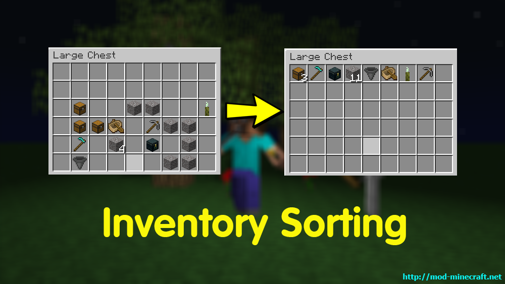 Inventory Sorting mod for minecraft