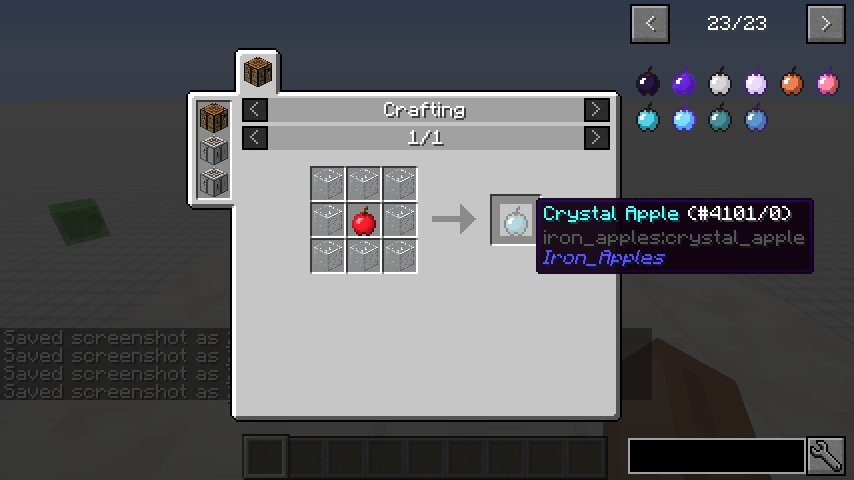 Iron Apples mod for minecraft recipes 01