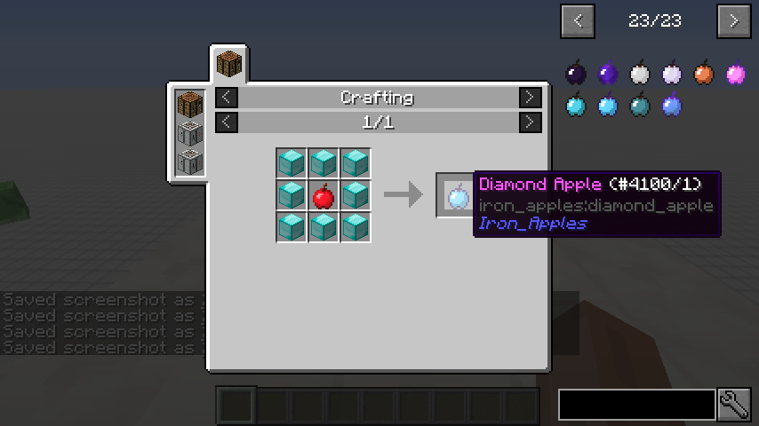 Iron Apples mod for minecraft recipes 02