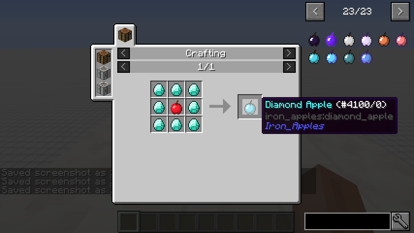 Iron Apples mod for minecraft recipes 03