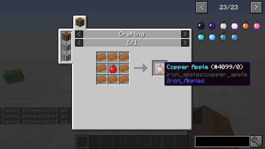 Iron Apples mod for minecraft recipes 05