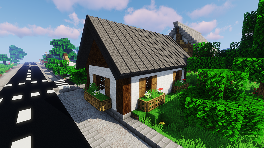 Macaw's Roofs mod for minecraft screenshots 01