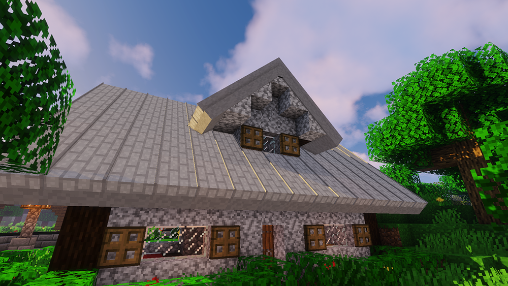 Macaw's Roofs mod for minecraft screenshots 02