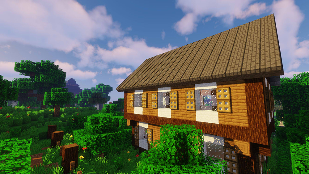 Macaw's Roofs mod for minecraft screenshots 03
