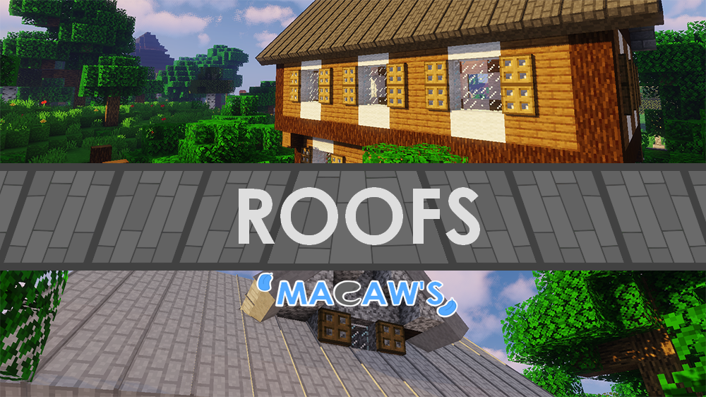 Macaw's Roofs mod for minecraft