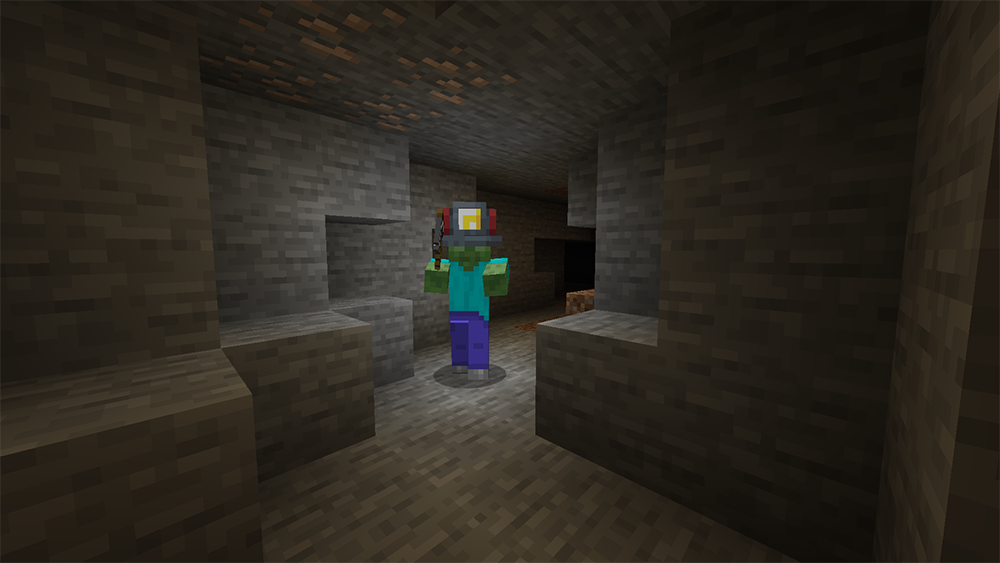 Miners Helmet mod for minecraft screenshots 03