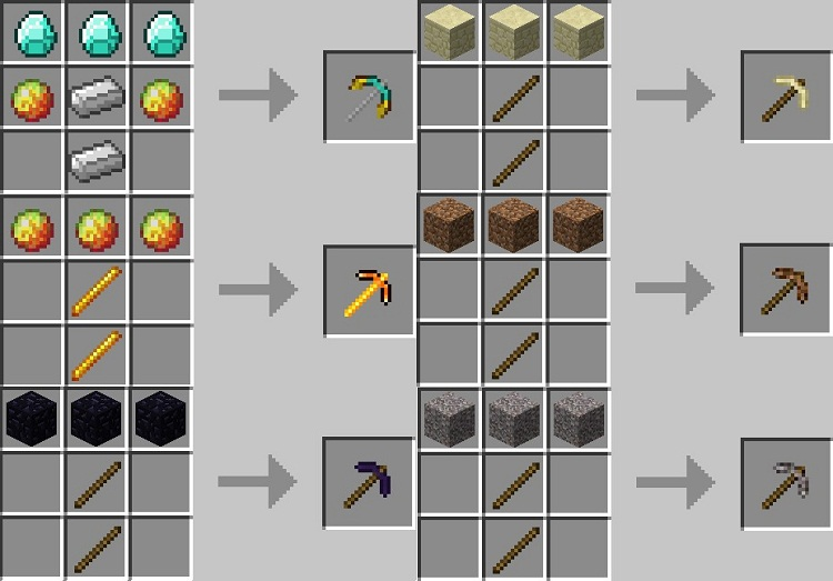 More pickaxes mod 1 8 1 minecraft mods - Minecraft crafting table recipes list ...