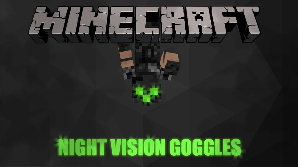 Night Vision Goggles mod for minecraft