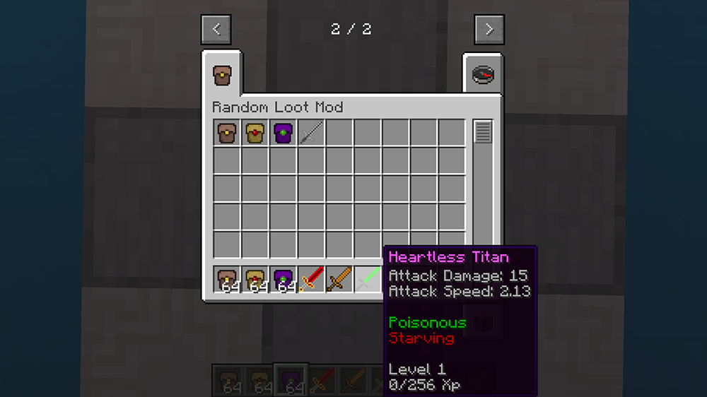 Random Loot mod for minecraft screenshots 04