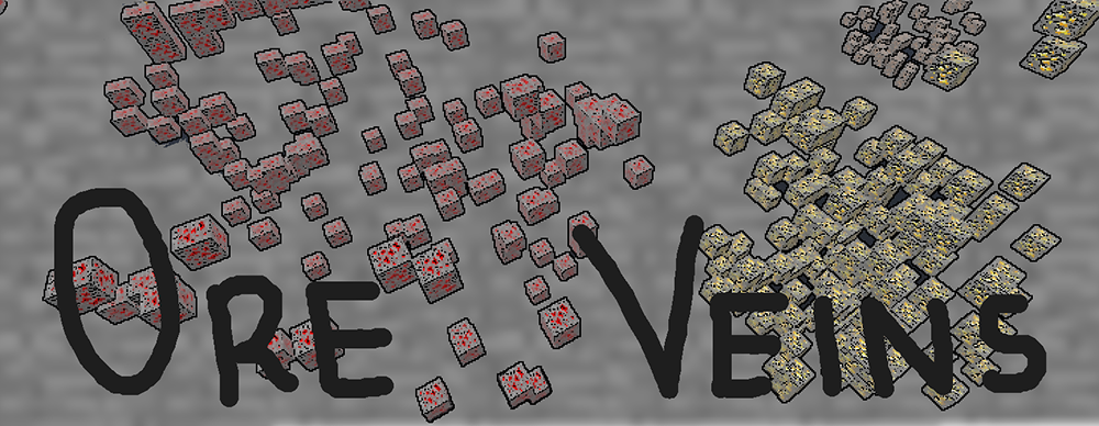 Realistic Ore Veins mod for minecraft