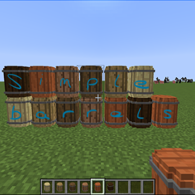 Simple Barrels Mod 1.10.2/1.9.4
