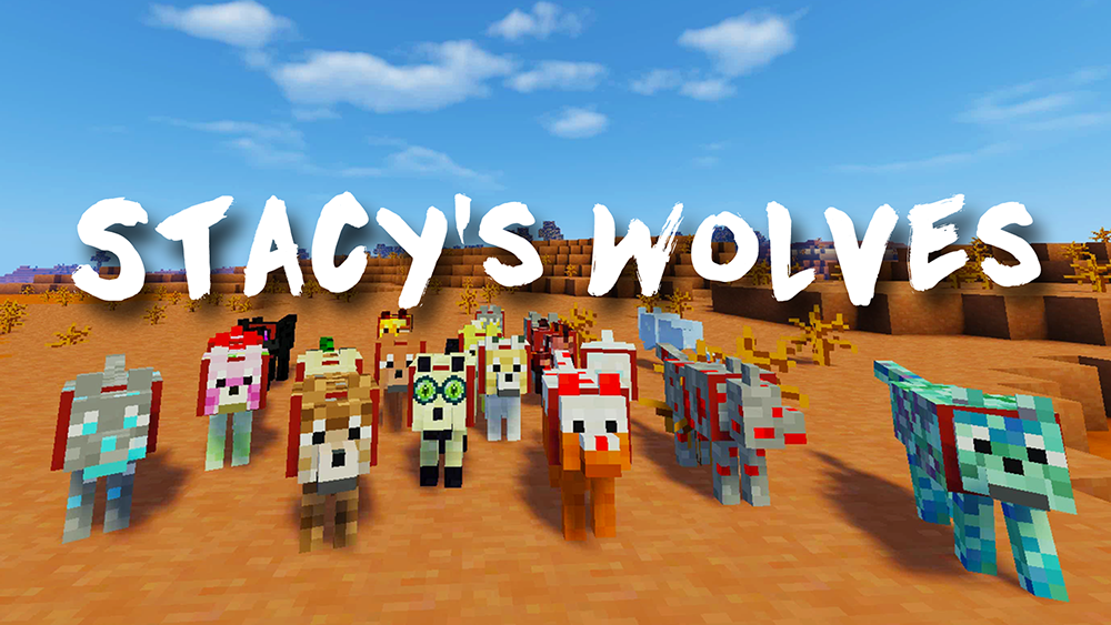 Stacys Wolves mod for minecraft