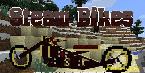 Bikes Mod 1.7.2 Steam Bikes Mod installed to