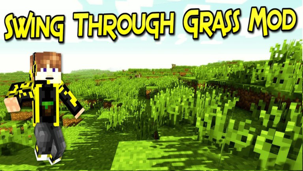 Swing Through Grass mod for minecraft