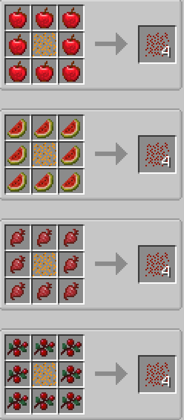 The Veggie Way mod for minecraft recipes 04