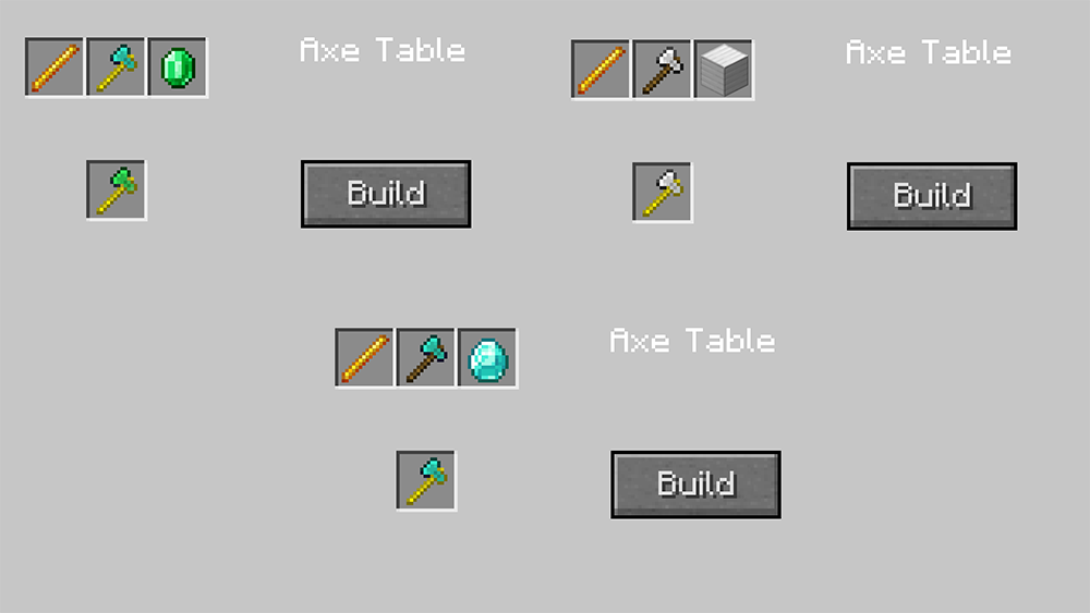 Timber Axes mod for minecraft recipes 01