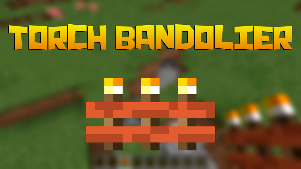 Torch Bandolier mod for minecraft