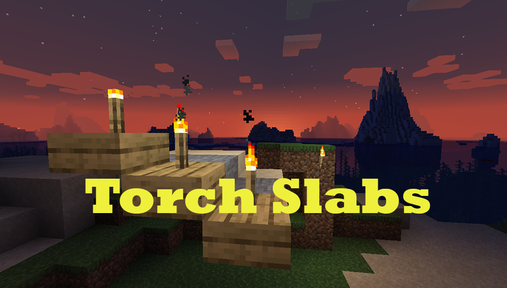 Torch Slabs Mod mod for minecraft