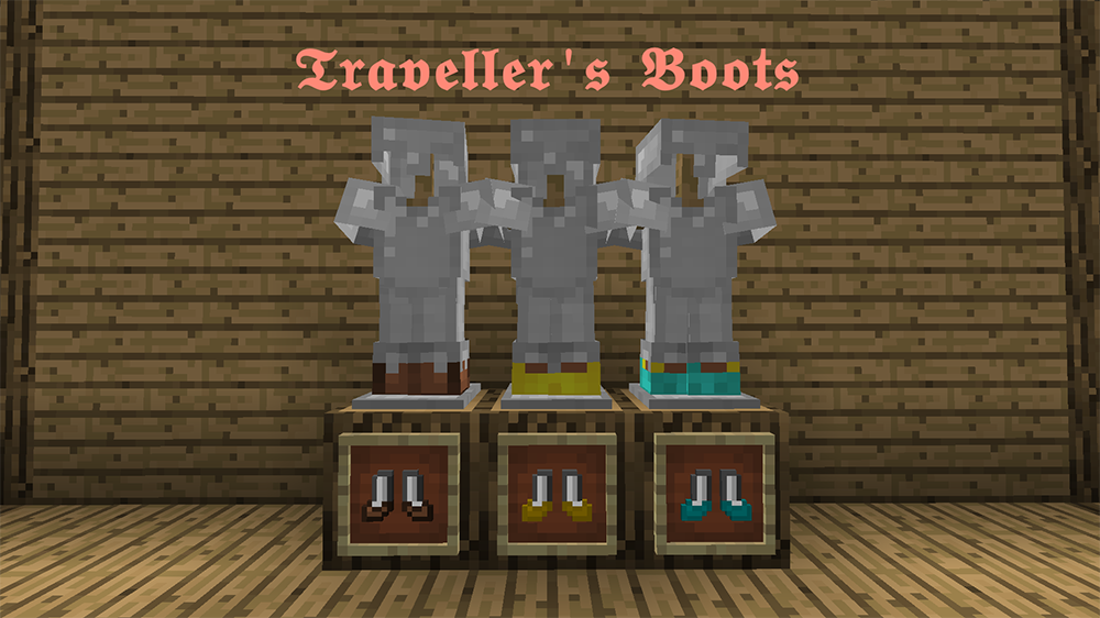 Travellers Boots mod for minecraft