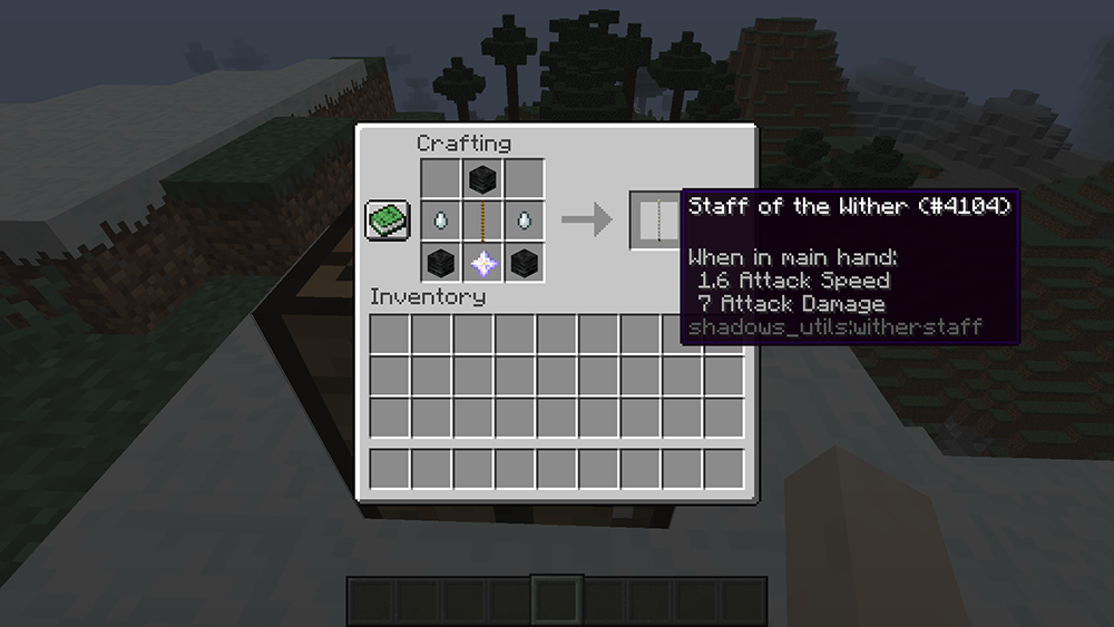 Utility Staffs mod for minecraft recipes 11