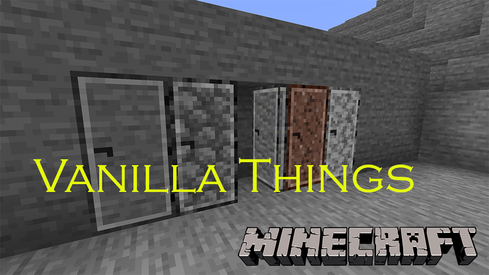 Vanilla Things mod for minecraft