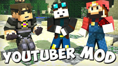 Youtubers plus mod 1. 10. 2/1. 8/1. 7. 10 | minecraft mods.