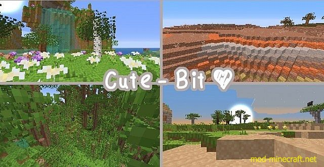 Cute Bit Resource Pack 1 8 1 7 10 1 7 2 1 6 4 Mod