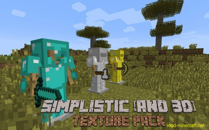 Simplistic (and 3D) Resource Pack 1.8.8/1.8/1.7.10