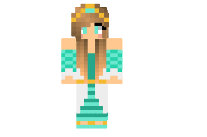 Aquamarine Princess Skin for Minecraft - Mod-Minecraft.net