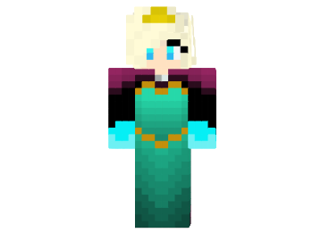 Paper Craft NEW PAPERCRAFT MINECRAFT ELSA - Skin para minecraft pe frozen
