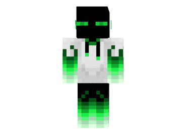 Green Firery Enderman Skin For Minecraft Mod Minecraftnet