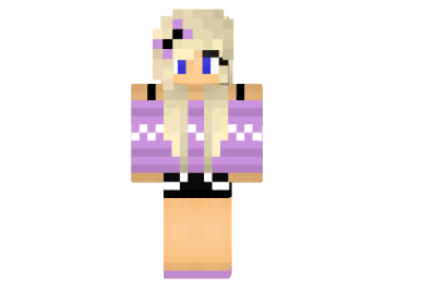 Lavender Sweater Girl Skin For Minecraft Mod Minecraft Net