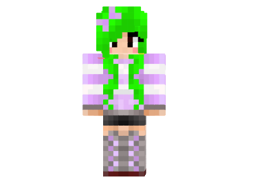 http://img.mod-minecraft.net/Skin/Lime-green-hair-girl-skin.png